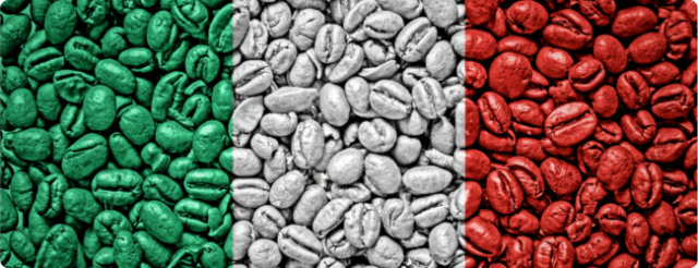 2015_Italian Flag of coffee beans