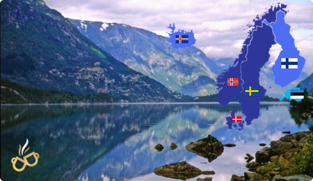 2016_Scandanavia View with countries and flags