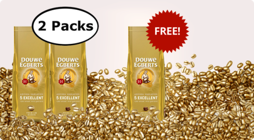 2016_DE EXCELLENT AROMA 2 pack and 1 pack whole beans gold