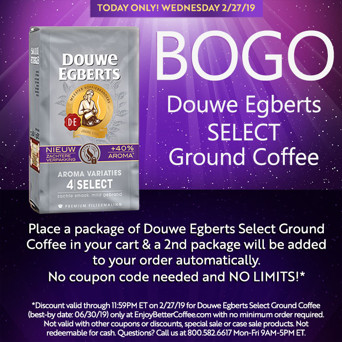 Get An Incredible Deal On Douwe Egberts Select Ground Coffee